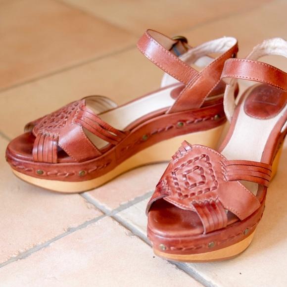 78385dbca5a Frye Shoes - Frye Carlie Huarache Wedge Sandals